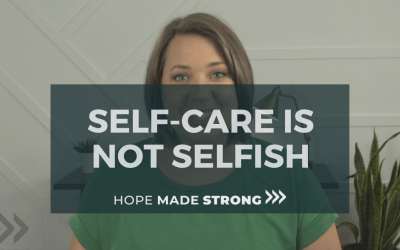 Why Self-care is not selfish