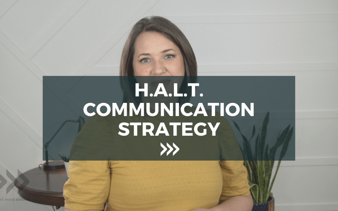 H.A.L.T Communication Strategy